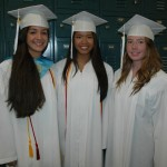 Milton Girls Alyssa Melendez, Josephine Wong and Michaela Greeney